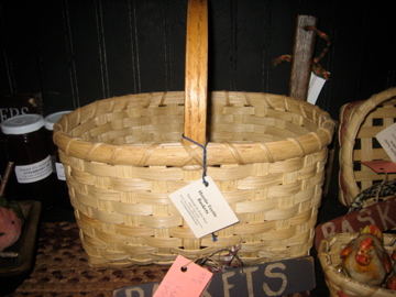 Handmade in NH Basket with handle