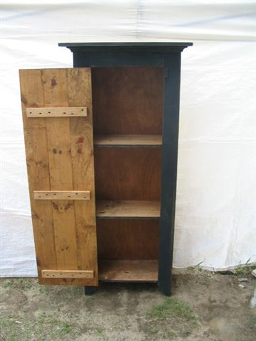 Tall Black Jelly Cupboard