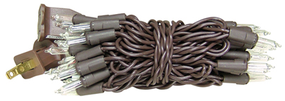 Light Strand - 10 Count - Brown Cord