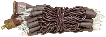 Light Strand - 35 Count - Brown Cord
