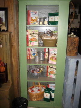 Country Green Cupboard Shelf