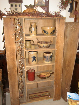 Primitive Antique Broom Closet Cupboard