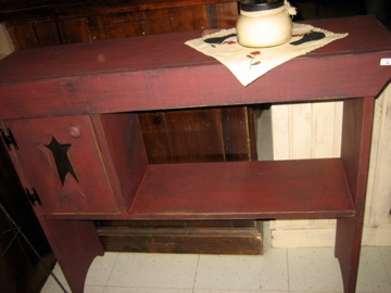 Star Cutout Table Made in NH - Primitive Burgundy