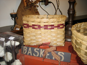 Handmade in NH napkin basket