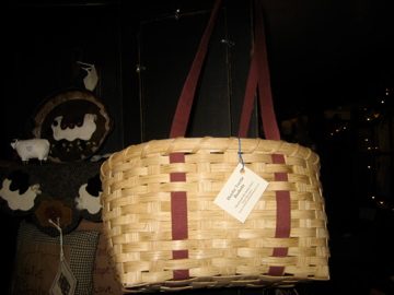 Handmade in NH lunch tote basket