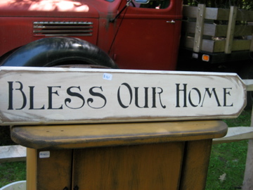 Bless Our Home Handmade Sign