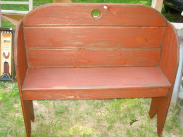 Large Handmade Courting Bench