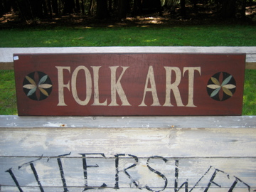 Large Folk Art Sign Handmade