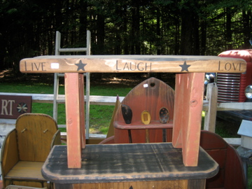 Live, Laugh, Love Small Bench Handmade