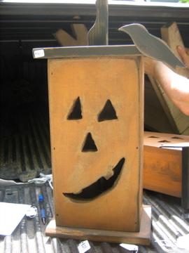 Handmade Pumpkin House with Electric Light