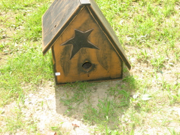 Primitive Birdhouse with Star Handmade
