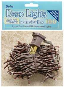 Teeny Lights - 100 Count - Brown Cord
