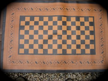 2' x 3' Handpainted Floorcloth