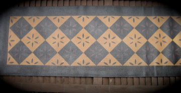 Tablerunner Floorcloth Handpainted
