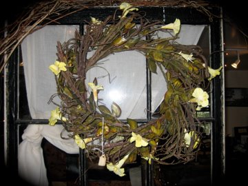vine and flower wreath