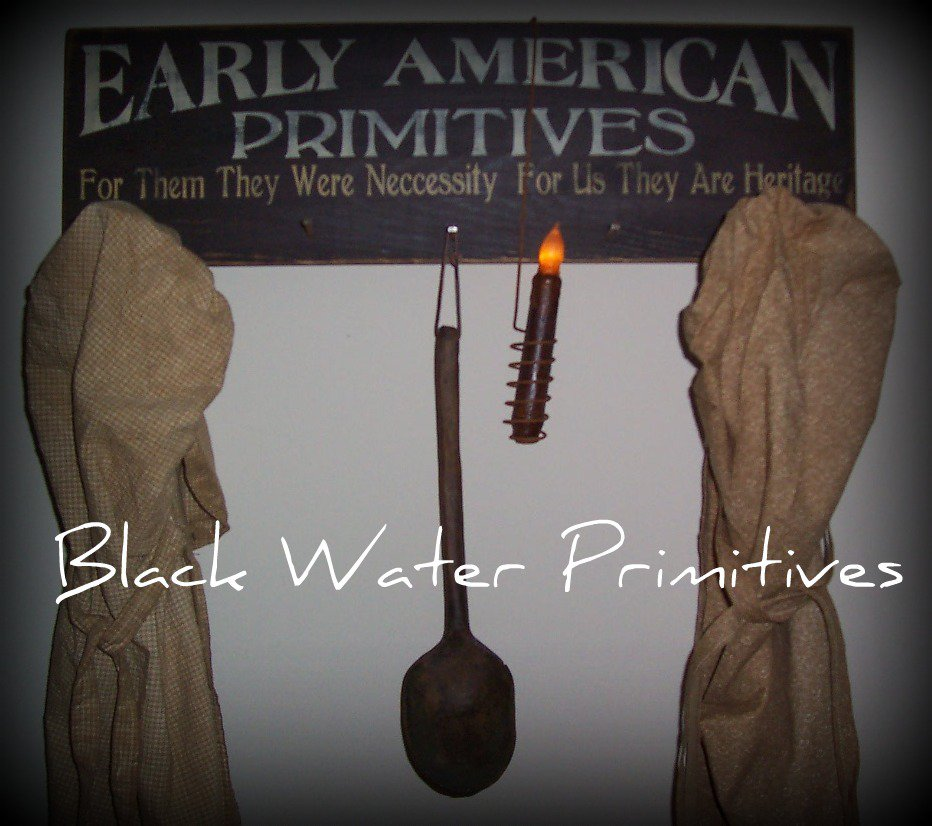 Early American Primitives Handmade Sign with Nails