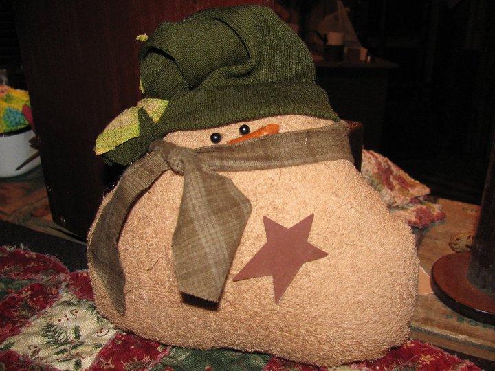 Handmade Fat Boy Snowman