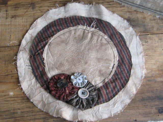 "Handmade Candle Mat approx 8"""