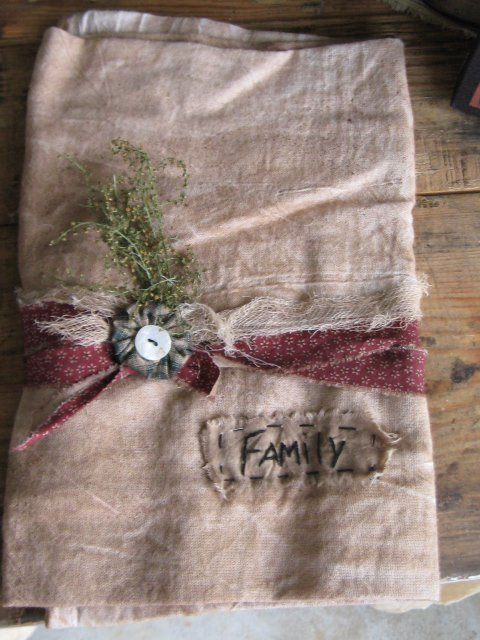 Flour Sack Hand Stitched