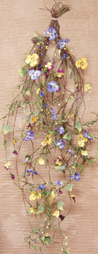 Pansy Garland 8 ft