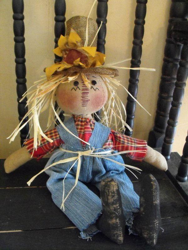 "17"" Tall Scarecrow Doll - Handmade"