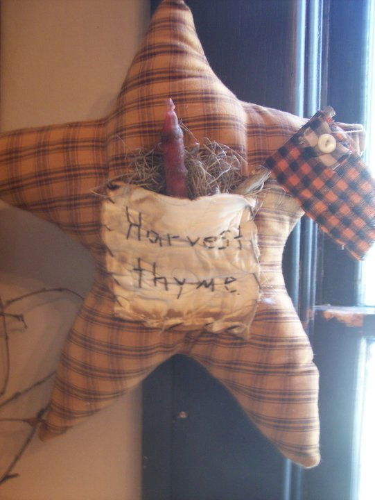Handmade HARVEST THYME Star...12 x 12
