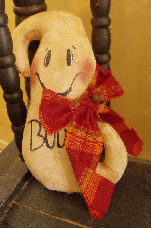 "7"" tall muslin boo ghost - Handmade"