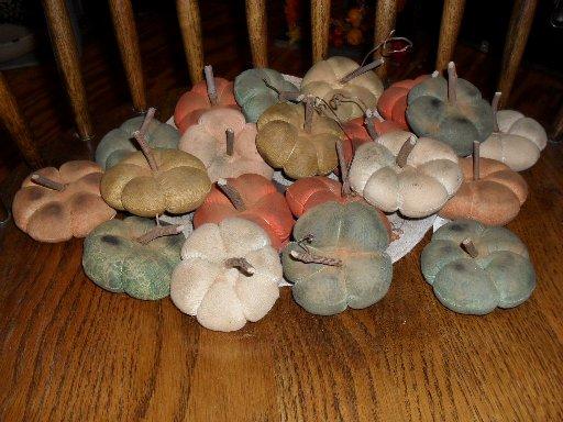 Handmade pity pats pumpkins