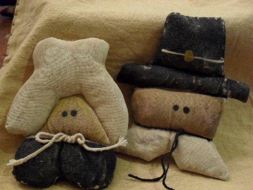 Handmade Bowl filler pilgrim set of 2