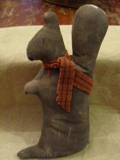 """Handmade Squirrel ornie about 7"""""""