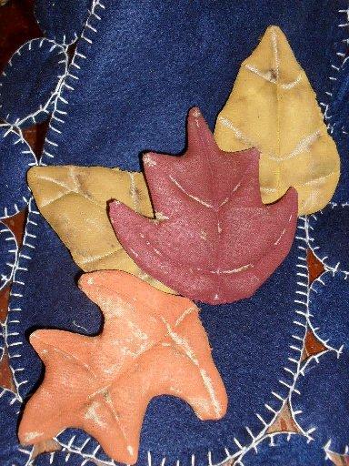 "Handmade Fall leaves (4"" - 5 "") set of 4"