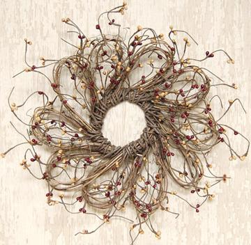 """Flower Shape Pip Berry Wreath 12"""""""