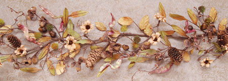 Mixed Dried Pods Garland 4ft