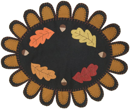 Fall Leaf Oval Mat