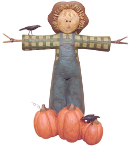 Pumpkin Patch Scarecrow - Small
