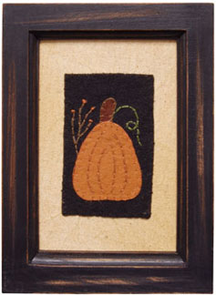 Framed Pumpkin Stitchery