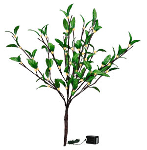 "Green Leaf Twig - 60L Small SIZE 19.75"" Tall, 60 Lights"