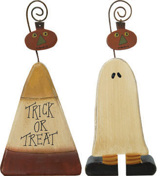 Ghost & Candy Corn Photo Holders - 2/Set