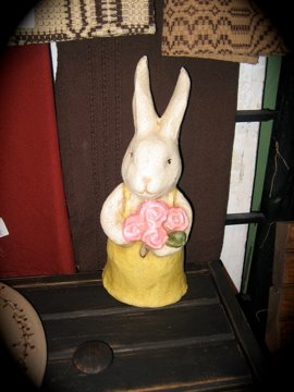 Large papermache bunny.