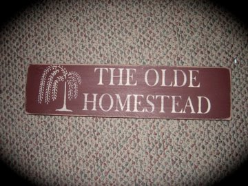 The Olde Homestead Sign