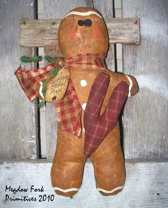 "Handmade Gingerbread Man 16"""