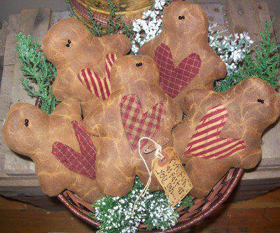 Handmade Gingerbread Men Bowl Fillers