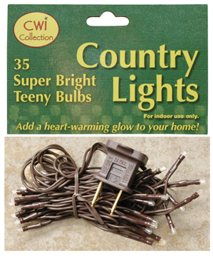 Teeny Lights - 35 Count - Brown Cord