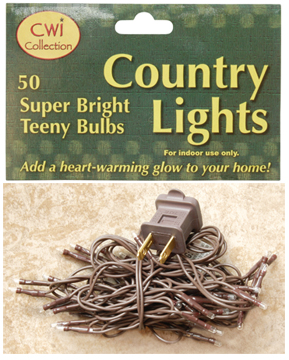 Teeny Lights - 50 Count - Brown Cord