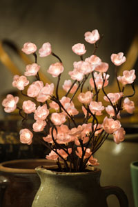 Pink Cherry Blossom Lighted Branch - Electric - 39""