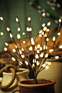Pussy Willow Lighted Branch - Electric - 39""