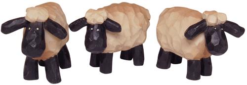 Mini Resin Sheep - 3/Set