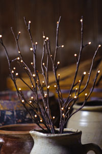 "Willow Twig - 96L Large SIZE 39"" Tall, 96 Lights"