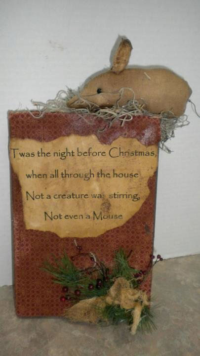 Christmas Mouse Book - Handmade