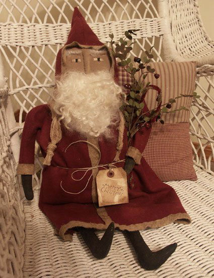Primitive Old Fashion Santa - Handmade